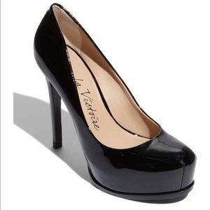 Pour La Victoire Irina Black Patent Leather Heels